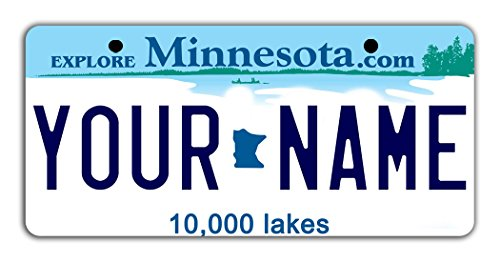 BleuReign(TM) Personalized Custom Name Minnesota State Bicycle Bike Moped Golf Cart 3'x6' License Plate Tag
