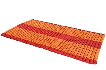 Rollbare Matratze rollbare thaimatte matratze ca 200 x 100 cm thaikissen matte rot