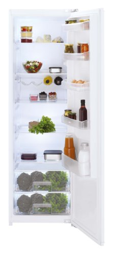 Beko LBI 3002 F Einbau-Kühlschrank / A++ / 115 kWh/Jahr / Kühlteil: 310 L / weiß / Glasablagen, 2 Gemüsebehälter / Festtür-Montage