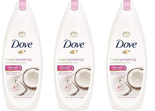 - Dove Nutrium Moisture Nourishing Body Wash, Coconut Milk & Jasmine - 3 Pack x 25.36 Fl.Oz / 750 mL Ea