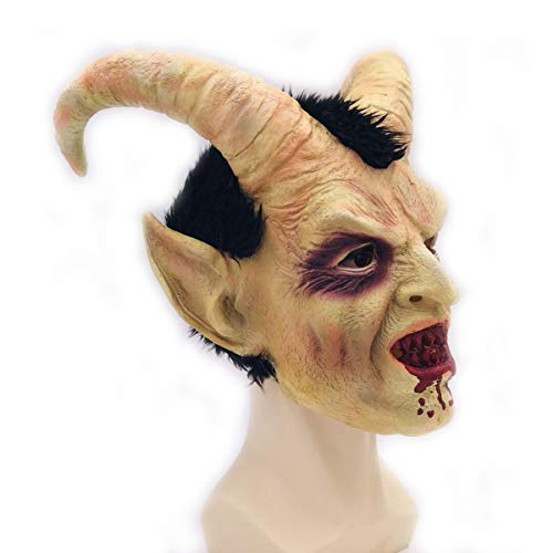 - Halloween Horror Latex Mask Costume Party Prop Lucifer Head Mask