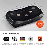 LifePro Rumblex 4D Vibration Plate Exercise Machine - Triple Motor Oscillation, Linear, Pulsation + 3D/4D Vibration Platform - Whole Body Viberation Machine for Home, Weight Loss