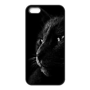 Case For Sam Sung Galaxy S5 Cover Case, Kawaii Black Cat In The Dark Case For Sam Sung Galaxy S5 Cover {Black}