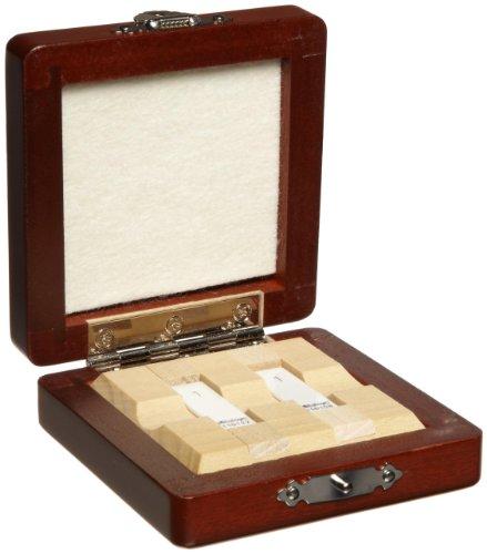 Gage Block Wear - Mitutoyo Ceramic Rectangular Wear Gage Block Set, ASME Grade 0, 1.0 mm Length (2 Blocks)