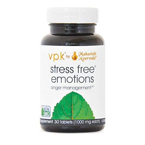 Stress Free Emotions | 30 Herbal Tablets - 1000 mg ea. | Anger ManagementTM | Natural Support for Stress Relief & Emotional Highs & Lows