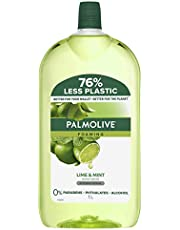 Palmolive Foaming Antibacterial Hand Wash Soap Lime and Mint Refill and Save Kills 99.9 percentage of Germs Dermatologically Tested Recyclable Packaging 1L