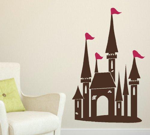 Wall Decor Plus More Princess Castle Flags Girl's Room Wa...