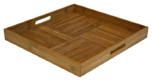 Simply Bamboo BTRS17 Square Ottoman Serving Tray, L x 17