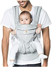 Ergobaby OMNI 360 Cool Air Mesh Ergonomic Baby Carrier All Carry Positions, Newborn to Toddler, Pearl Grey