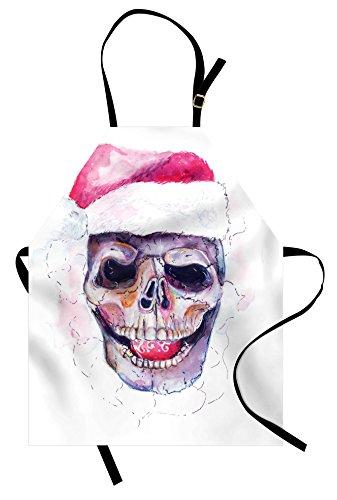 Lunarable Skull Apron, Santa Claus Christmas Scary