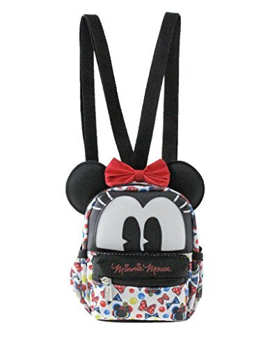 2-in-1 Minnie Mouse 3D 6in Cross-body bag/ Mini Backpack - Interchangeable Travel Mini Handbag with Long Shoulder Strap