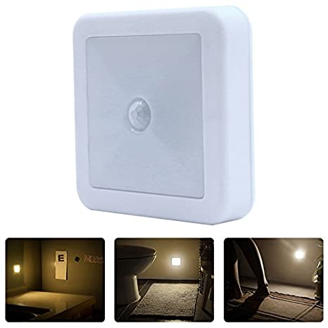 Sensor de movimiento por infrarrojos LED luces de luz auto encendido/apagado, funciona con