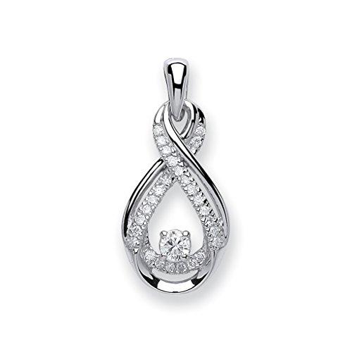 9ct or blanc 0,20ct Diamant Pendentif