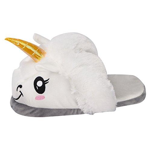 Migliore Morbido Cosplay Costume Per I Halloween Unicorno Bianca Pantofole Bianco Felpa bianco Adulti Regali Scarpe ApWFwq1X