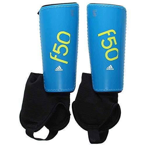 - adidas Performance F50 Youth Shin Guards, Solar Blue/Semi Solar Yellow, Small