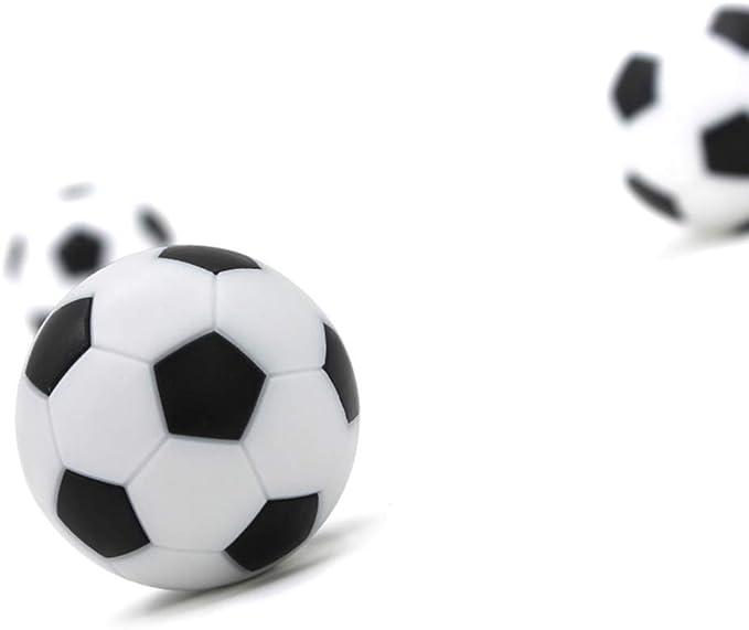 LIOOBO Juego de futbolín futbolín Juego de Mesa de reemplazo Mini balones de fútbol en Blanco y Negro 32mm 10pcs: Amazon.es: Deportes y aire libre