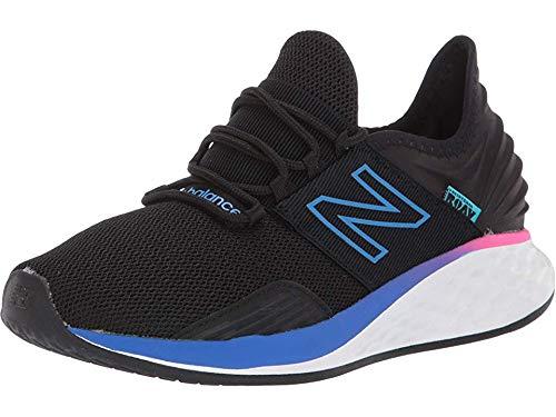 New Balance Women's Roav V1 Fresh Foam Running Shoe, Black/Vivid Cobalt, 12 N US