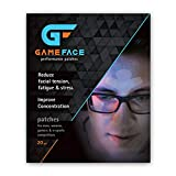 Facial Muscles Tensing Up - GAMEFACE Performance Enhancement Facial Patches for Gamers & E-Sports Competitors – 20 Patches