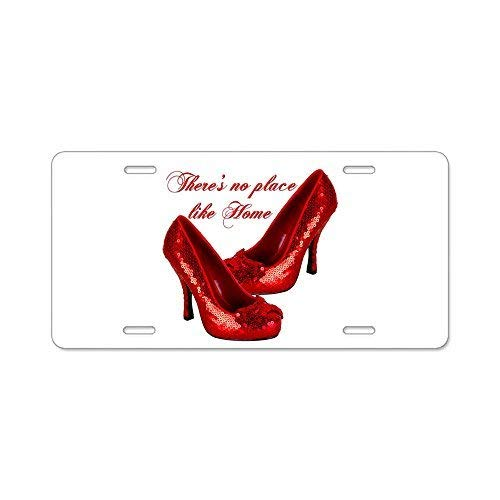 FashionCZYframe Wizard of Oz Red Ruby Slippers Aluminum License Pl Aluminum License Plate, Front License Plate, Decorative Car Auto Tag Car Tag Vanity Plate Tag Car Plate.