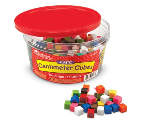 Learning Resources Centimeter Cubes, Counting/Sorting Toy, Assorted Colors, Set of 500, Ages - Cubes Centimeter