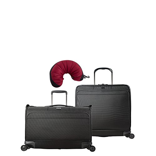 Hartmann Ratio | 3-Piece Set | Carry On Garment Bag & Extended Journey Expandable Glider, Travel Pillow (True - Bag Nylon Garment Delsey