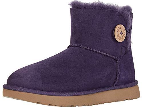 UGG Women's Mini Bailey Button II Nighshade 9 B US (Ugg Short Boots Purple)