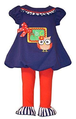 Bonnie Jean Little Girls Teacher Owl Tunic and Leggings 3T