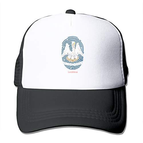 Louisiana Flag Trucker Hat Snap Back Sun Mesh Baseball Cap Hip Hop Flat Hats for Men and Women Black -