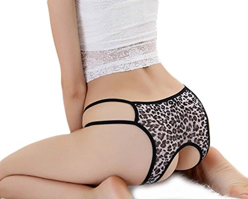 HitZoom Sexy Women Leopard Printing Open Croth Underwear (Leopard Babydoll And Thong)