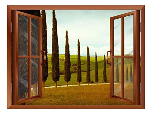 wall26 - Tuscan Countryside with Cypress and Meadow Removable Wall Sticker/Wall Mural - 36