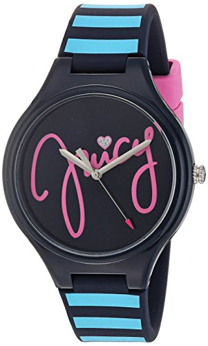 Price comparison product image Juicy Couture Girl's 'DAY DREAMER' Quartz Plastic and Silicone Casual Watch, Color:Blue (Model: 1901567)