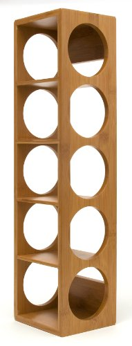 "Lipper International 8305 Bamboo Wood Stackable 5-Bottle Wine Rack, 20-3/4"" x 5-3/8"" x 4-3/4"""