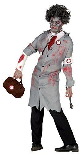 Mens Grey Zombie Dead Doctor Surgeon Halloween Horror