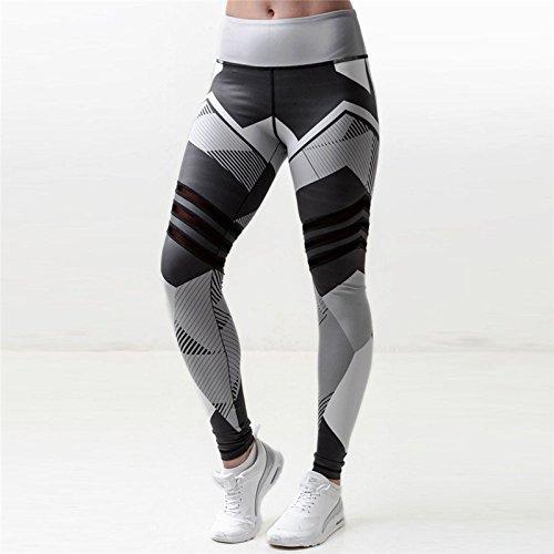 Xuanytp Yogahosen Hohe Taille Hosen Workout Leggings Fitness Patchwofkhosen Frauen