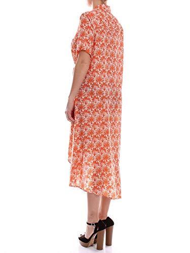 Femme Coton 111981orange Aglini Robe Orange n0Swqx6v
