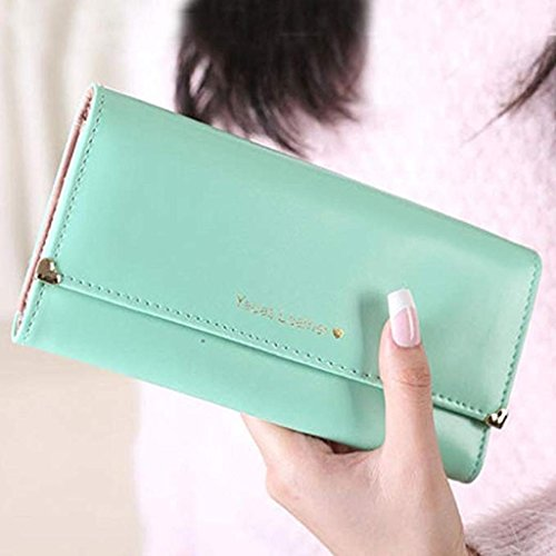 Clearance Leather Purse Noopvan Women wallets Green Bags Gift Wallet 2018 Long cute wallet Wallet Elegant wrist Clutch PU FxAzw0A5q