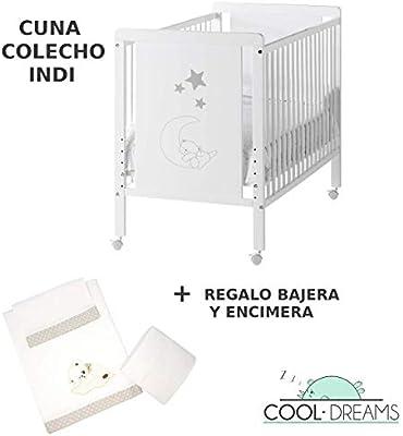 Cuna colecho Indi 120x60 + kit colecho + Bajera y Encimera Cool ...