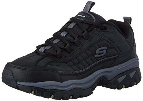 Skechers Men's Energy Afterburn Lace-Up Sneaker,Black/Gray,8.5 M US