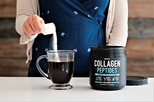 Premium Collagen Peptides Powder | Grass-Fed, Certified Paleo Friendly, Non-Gmo and Gluten Free - Unflavored and Easy to Mix (16oz)
