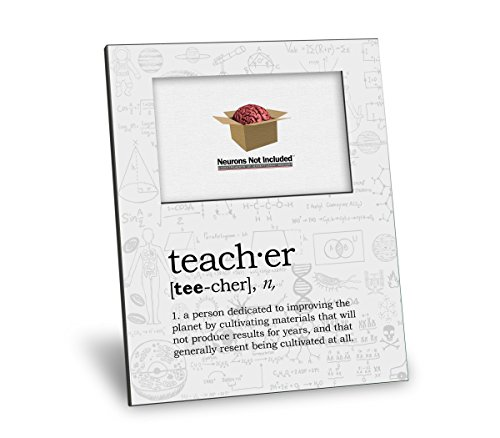 Teacher Definition Picture Frame - Personalization Available - 8x10 Frame - 4x6 Picture - Gloss White Finish