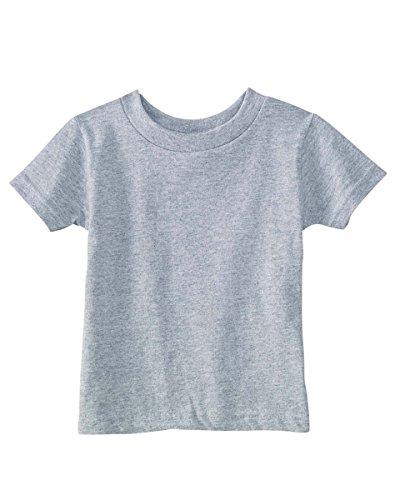 Rabbit Skins Infant Crewneck Short-Sleeve T-Shirt, Heather, 24 Months
