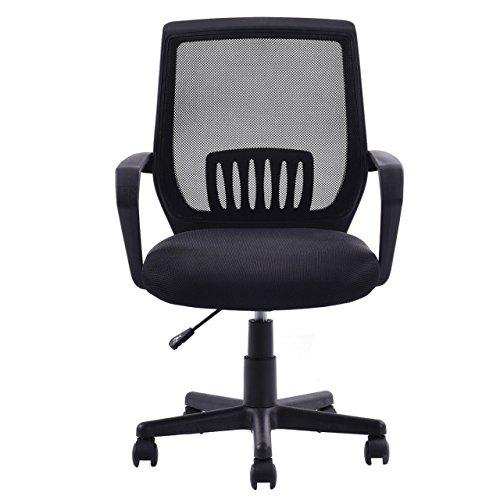 Modern Ergonomic Mid-back Mesh Computer Office Chair Desk Task 360 Degree Swivel Black - Free Duty Brisbane Prices
