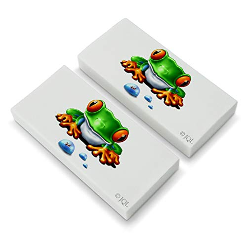 Rainforest Red Eyed Tree Frog and Ant Eraser Set of 2