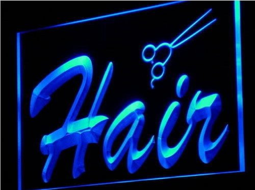 Hair Salon Scissor Cut Shop Neon Light Sign