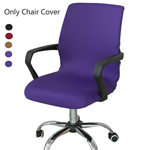 Caveen Office Chair Cover Computer Chair Universal Boss Chair Cover Modern Simplism Style High Back Large Size (Chair not included) purple large (Purple Computer Chair)