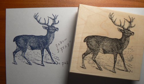 P 38 Deer rubber stamp