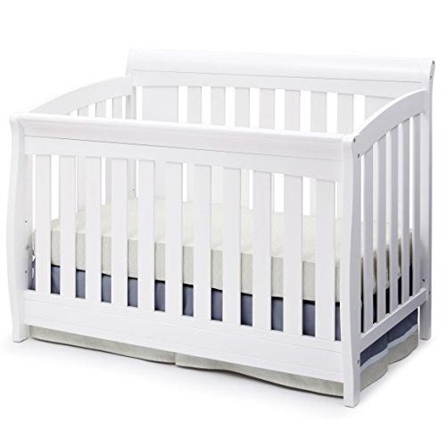 Delta Children Clermont 4-in-1 Convertible Baby Crib, White