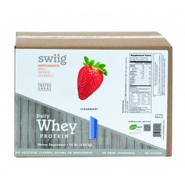 Cheap swiig Strawberry Daily Whey Protein Concentrate – 10lb