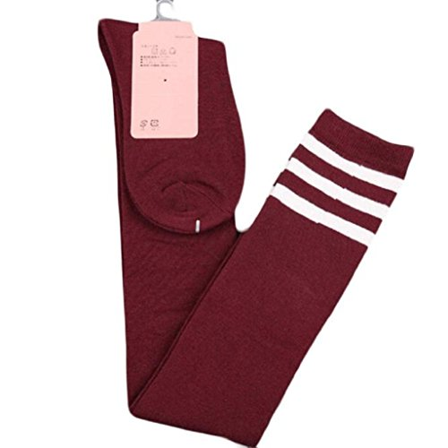 Leg Warmers, Yoyorule Women Girl Over Knee Boot Cover Soft Cotton Socks (Red) by Yoyorule