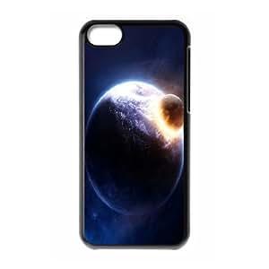 XiFu*Meiiphone 5/5s Cases Planet Collision, iphone 5/5s Cases for Guys - [Black] OkaycosamaXiFu*Mei